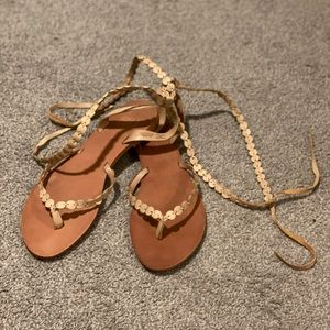 Zara wrap up sandals